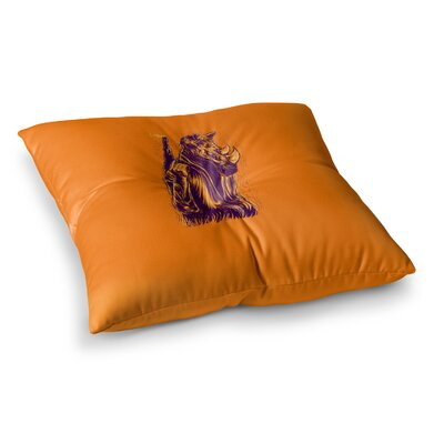 BarmalisiRTB Rhinoceros Digital Square Floor Pillow Size: 23 x 23