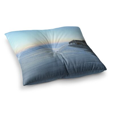 Robin Dickinson Sand Surf Sunshine Beach Square Floor Pillow Size: 23 x 23
