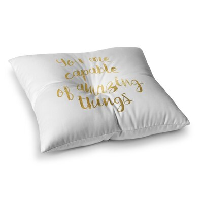 NL Designs Amazing Things Square Floor Pillow Size: 23 x 23