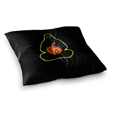 BarmalisiRTB Halloween Meditation Illustration Square Floor Pillow Size: 23 x 23