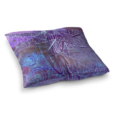 Marianna Tankelevich Abstract with Wolf Illustration Square Floor Pillow Size: 23 x 23