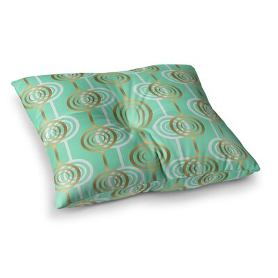 SusanaPaz Circles Digital Square Floor Pillow Size: 26 x 26