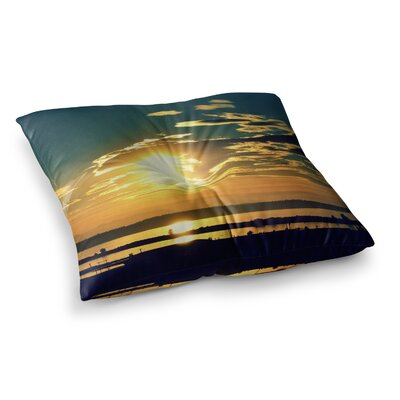 Robin Dickinson Conquer Your World Square Floor Pillow Size: 23