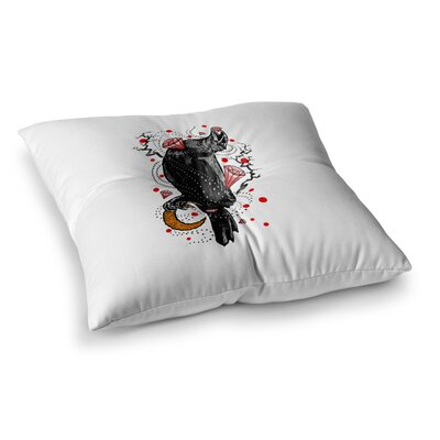 BarmalisiRTB Crow Diamond Digital Square Floor Pillow Size: 23 x 23