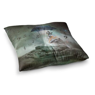 Suzanne Carter Umbrella Bird Square Floor Pillow Size: 26 x 26
