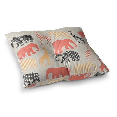 Suzanne Carter Zoo Square Floor Pillow Size: 23 x 23