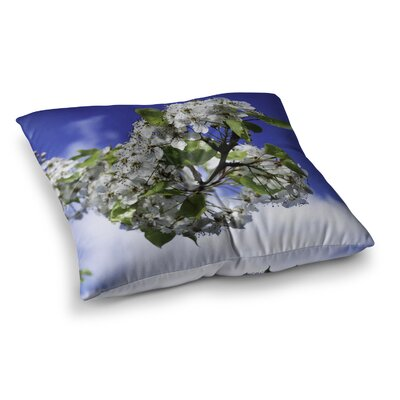 Nick Nareshni Cherry Blossoms and Sky Square Floor Pillow Size: 26 x 26