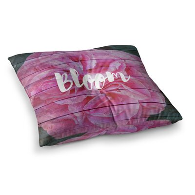 Suzanne Carter Bloom Typography Floral Square Floor Pillow Size: 23 x 23