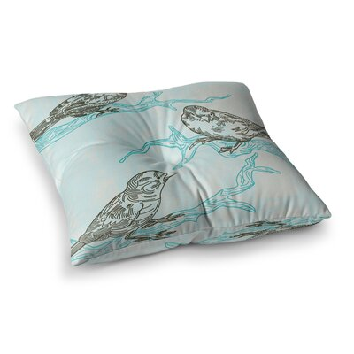 Sam Posnick Birds in Trees Square Floor Pillow Size: 26 x 26