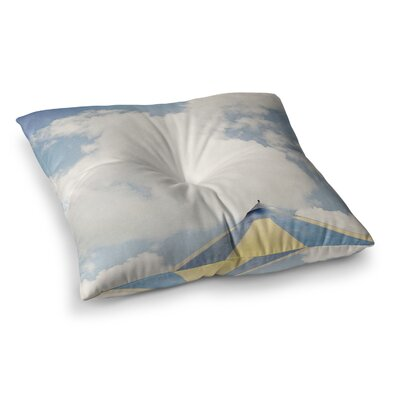 Susannah Tucker Carnival Tent Sky Clouds Square Floor Pillow Size: 23 x 23