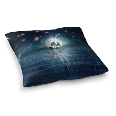 Viviana Gonzalez Travel Through the Lights Digital Square Floor Pillow Size: 23 x 23