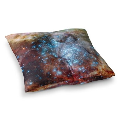 Suzanne Carter Star Cluster Space Square Floor Pillow Size: 26 x 26