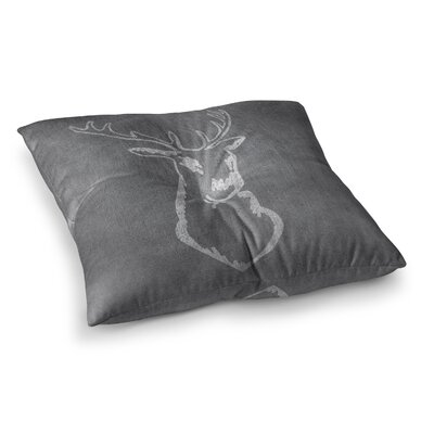 NL Designs Chalkboard Deer Digital Square Floor Pillow Size: 26 x 26