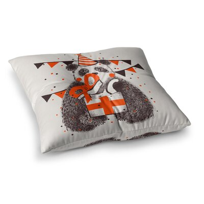 Tobe Fonseca Happy Birthday Square Floor Pillow Size: 23 x 23