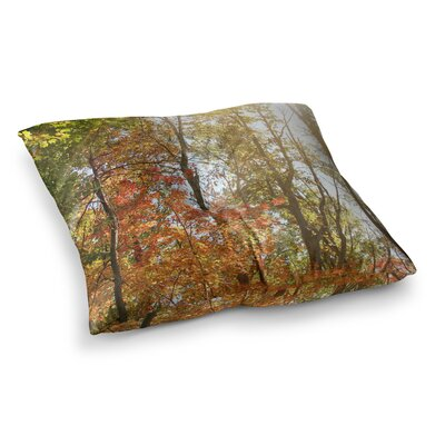 Sylvia Coomes Autumn Trees 1 Square Floor Pillow Size: 26 x 26