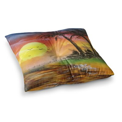 Infinite Spray Art Maui Sunrise Beach Square Floor Pillow Size: 23 x 23