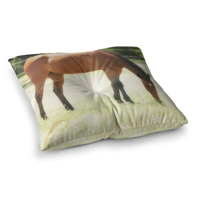 Sylvia Coomes Grazing Animals Square Floor Pillow Size: 23 x 23