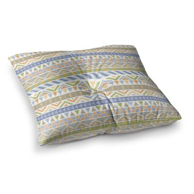 Noonday Design Happy Tribal Pattern Square Floor Pillow Size: 23 x 23