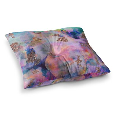 Nikki Strange Sparkle Mist Square Floor Pillow Size: 23 x 23
