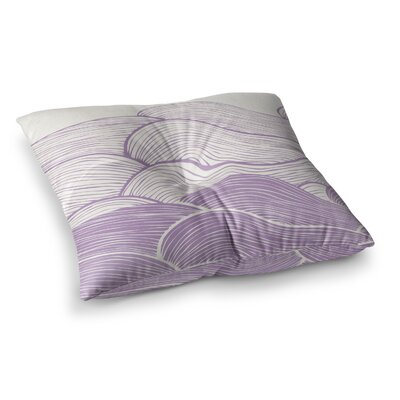 Pom Graphic Design the Calm and Stormy Seas Square Floor Pillow Size: 23 x 23, Color: Purple