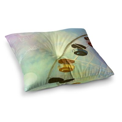 Sylvia Coomes Lets Go on an Adventure Photography Square Floor Pillow Size: 26 x 26