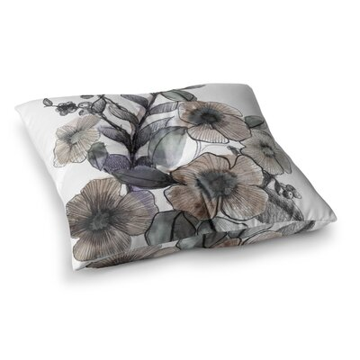 Sonal Nathwani Bouquet Illustration Square Floor Pillow Size: 23 x 23