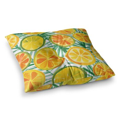 Yenty Jap Tropical Slices Square Floor Pillow Size: 23 x 23