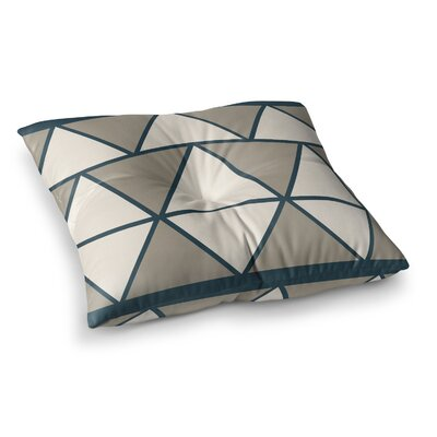 NL designs Sandstone Triangles Geometric Square Floor Pillow Color: Gray, Size: 23 x 23