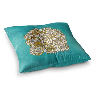Pom Graphic Design Bohemian Succulents II Floral Square Floor Pillow Size: 26 x 26, Color: Teal