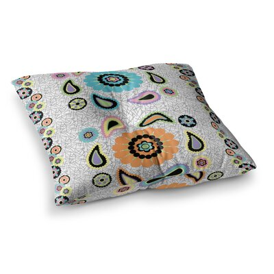 Nina May Moda Paisley Paisley Flower Square Floor Pillow Size: 23 x 23