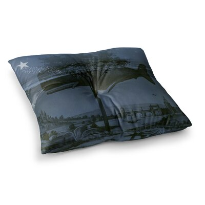 Suzanne Carter Whale Watch Illustration Square Floor Pillow Size: 26 x 26