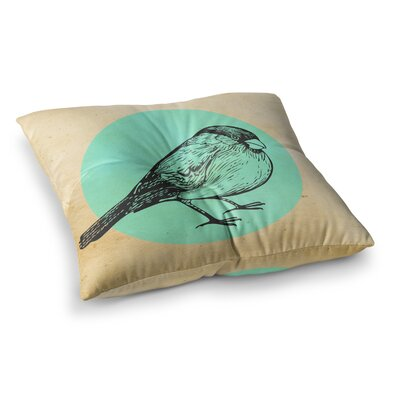 Sreetama Ray Old Paper Bird Circle Square Floor Pillow Size: 23