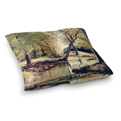 Sylvia Coomes Walk In The Park Photography Square Floor Pillow Size: 23 x 23