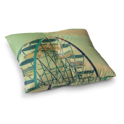 Robin Dickinson Ferris Wheel Square Floor Pillow Size: 26 x 26