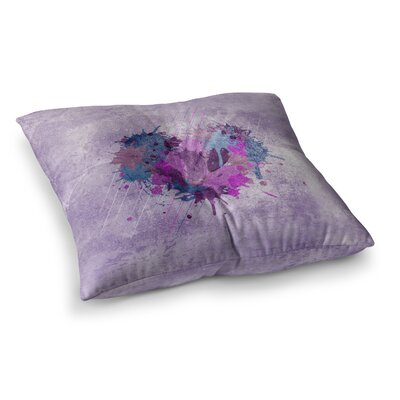 Nick Atkinson Painted Heart Square Floor Pillow Size: 23 x 23