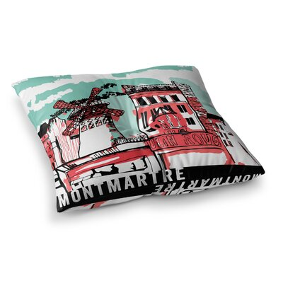 Theresa Giolzetti Montmartre Square Floor Pillow Size: 23 x 23