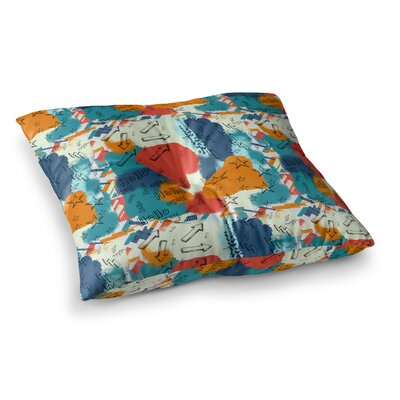 Rosa Picnic Untitled-1-a Digital Square Floor Pillow Size: 23 x 23