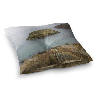 Nick Nareshni Rock Above Water Square Floor Pillow Size: 26 x 26