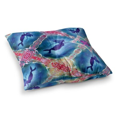 Infinite Spray Art Mermaid Pattern Square Floor Pillow Size: 26 x 26
