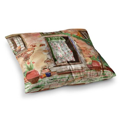 Theresa Giolzetti Tuscan Door Square Floor Pillow Size: 23 x 23