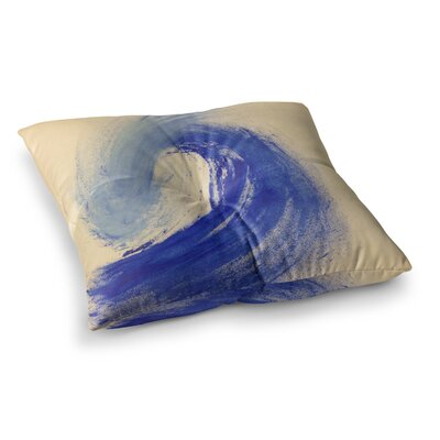 Infinite Spray Art Waveology Square Floor Pillow Size: 26 x 26