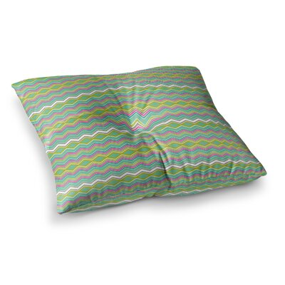 Nicole Ketchum Chevron Love Square Floor Pillow Size: 23 x 23