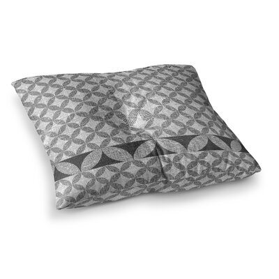 Nick Atkinson Diamond Turquoise Square Floor Pillow Size: 23 x 23, Color: Black
