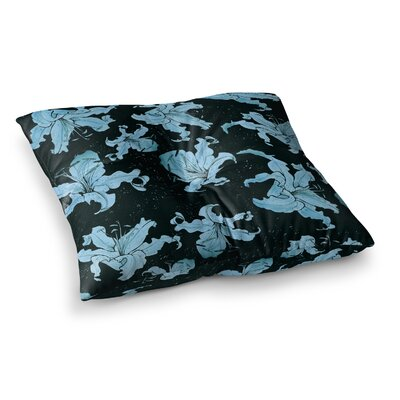 Marianna Tankelevich Lilies Illustration Square Floor Pillow Size: 23 x 23