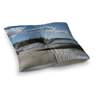 Nick Nareshni Clouds over Swamis Beach Square Floor Pillow Size: 23 x 23