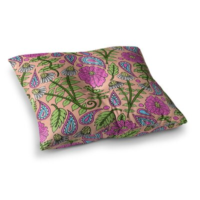 Sarah Oelerich Paisley Pop Square Floor Pillow Size: 23 x 23