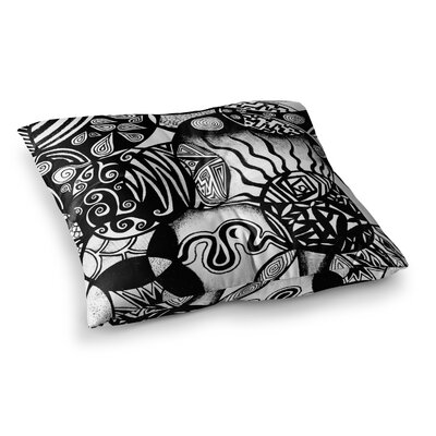 Pom Graphic Design Circles and Life Square Floor Pillow Size: 26 x 26