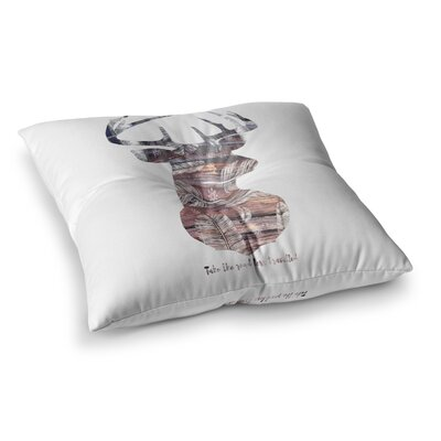 Suzanne Carter The Road Square Floor Pillow Size: 26 x 26, Color: White