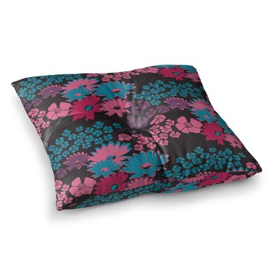 Zara Martina Mansen Bouquet Square Floor Pillow Color: Black, Size: 23 x 23