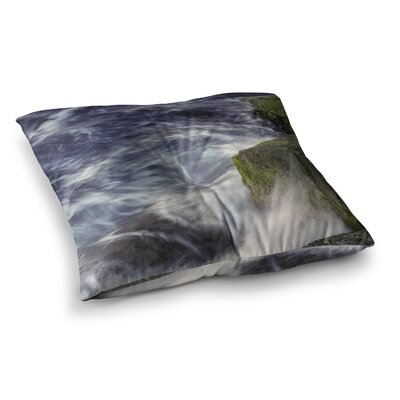 Nick Nareshni Wave Against La Jolla Rocks Ocean Square Floor Pillow Size: 26 x 26